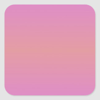 Horizontal Pink 2 - Ruddy Pink and Orchid Square Sticker