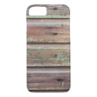 Horizontal plank wall with green mold iPhone 8/7 case