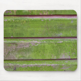 Horizontal plank wall with green mold mouse pad