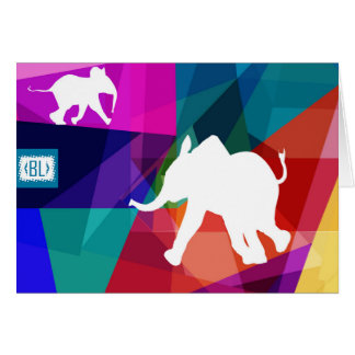 Horizontal Playful baby elephant card