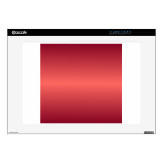 Horizontal Red1 - Pastel Red and Burgundy Gradient Decal For Laptop