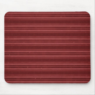 Horizontal Red Stripes Mouse Pad