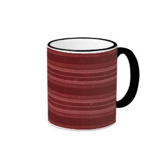 Horizontal Red Stripes Coffee Mug
