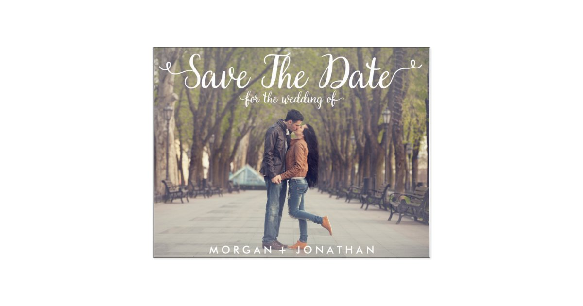 Horizontal Save The Date Postcard Template Zazzle