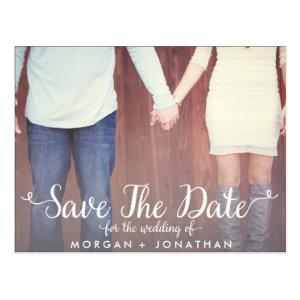 Horizontal Save The Date Postcard Template