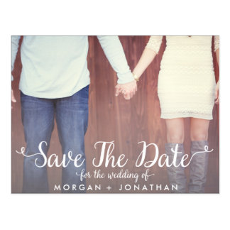 Horizontal Save The Date Postcard Template