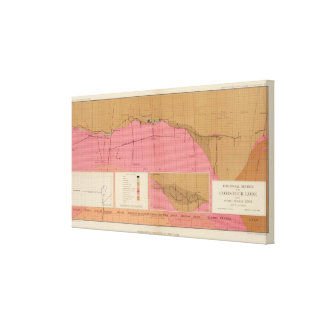Horizontal Section of the Comstock Lode North Canvas Print