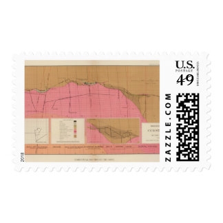 Horizontal Section of the Comstock Lode North Postage