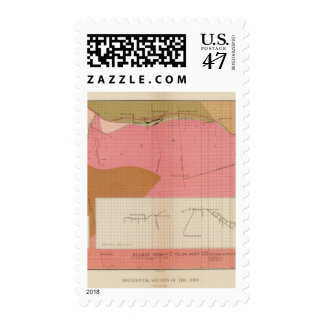 Horizontal Section of the Comstock Lode South Postage