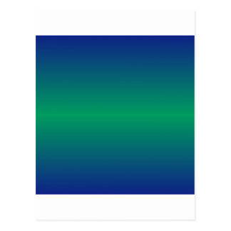 Horizontal Shamrock Green and Ultramarine Gradient Postcard