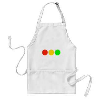 Horizontal Stoplight Colors Adult Apron