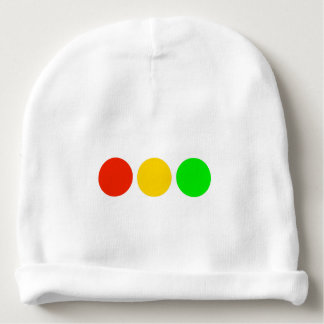 Horizontal Stoplight Colors Baby Beanie