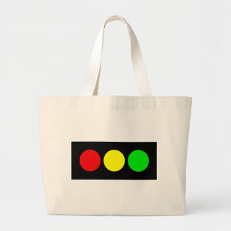Horizontal Stoplight Large Tote Bag