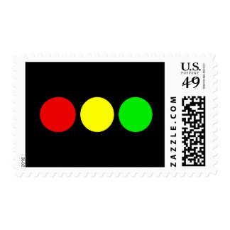 Horizontal Stoplight Postage
