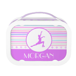 Horizontal Stripe Figure Skating with Monogram Replacement Plate