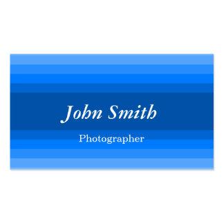 Horizontal Stripes (Blue) Business Card Templates