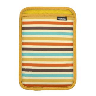 Horizontal Stripes Blue Yellow Red iPad Mini Sleeves