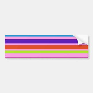 Horizontal Stripes Car Bumper Sticker