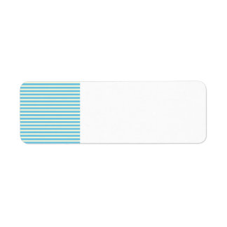 Horizontal Stripes Faded Yellow, Blue Pattern Gift Return Address Label