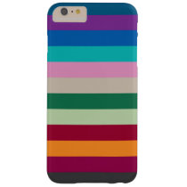 Horizontal Stripes In Fall Colors Barely There iPhone 6 Plus Case