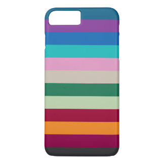 Horizontal Stripes In Fall Colors iPhone 8 Plus/7 Plus Case
