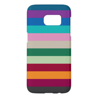 Horizontal Stripes In Fall Colors Samsung Galaxy S7 Case