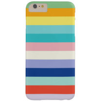 Horizontal Stripes In Spring Colors Barely There iPhone 6 Plus Case