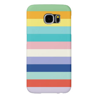 Horizontal Stripes In Spring Colors Samsung Galaxy S6 Case