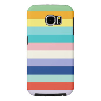 Horizontal Stripes In Spring Colors Samsung Galaxy S6 Cases