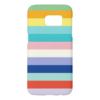Horizontal Stripes In Spring Colors Samsung Galaxy S7 Case