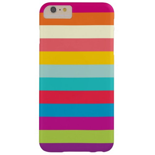 Horizontal Stripes In Summer Colors Phone Case