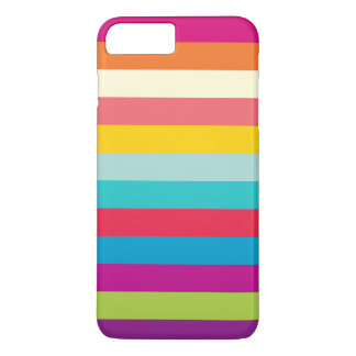Horizontal Stripes In Summer Colors iPhone 7 Plus Case