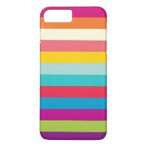 Horizontal Stripes In Summer Colors iPhone 8 Plus/7 Plus Case