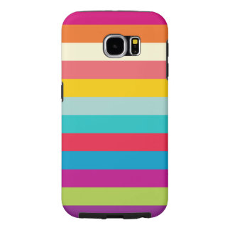Horizontal Stripes In Summer Colors Samsung Galaxy S6 Case
