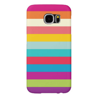 Horizontal Stripes In Summer Colors Samsung Galaxy S6 Cases