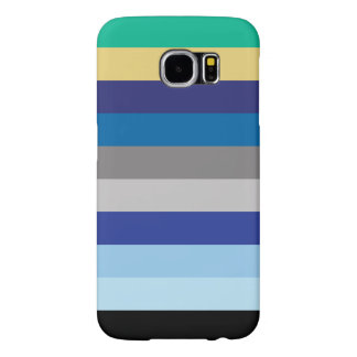 Horizontal Stripes In Winter Colors Samsung Galaxy S6 Cases