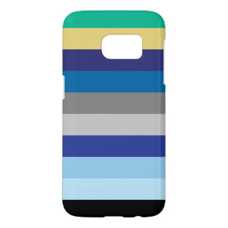 Horizontal Stripes In Winter Colors Samsung Galaxy S7 Case