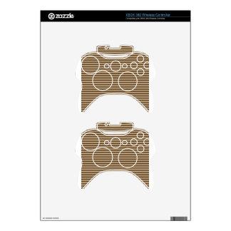 Horizontal Stripes - Khaki and Dark Brown Xbox 360 Controller Decal