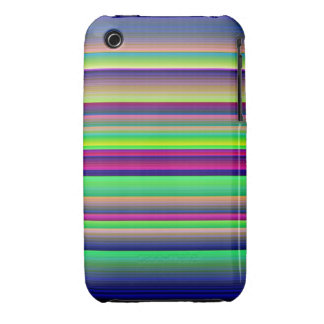 Horizontal Stripes Neon Rainbow iPhone 3G/3Gs iPhone 3 Cover