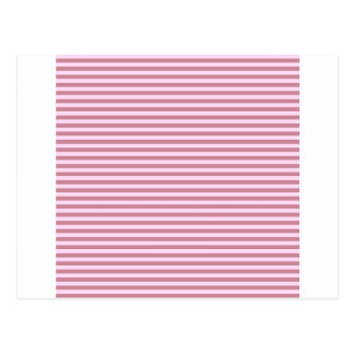 Horizontal Stripes - Pink Lace and Puce Postcard