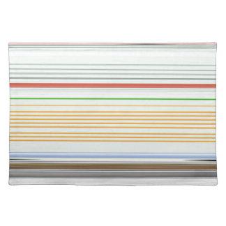 Horizontal stripes place mats