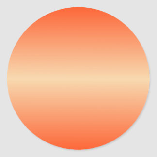 Horizontal Sunset and Coquelicot Gradient Classic Round Sticker