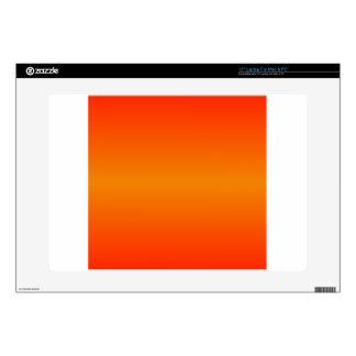 Horizontal Tangerine and Scarlet Gradient Laptop Skins