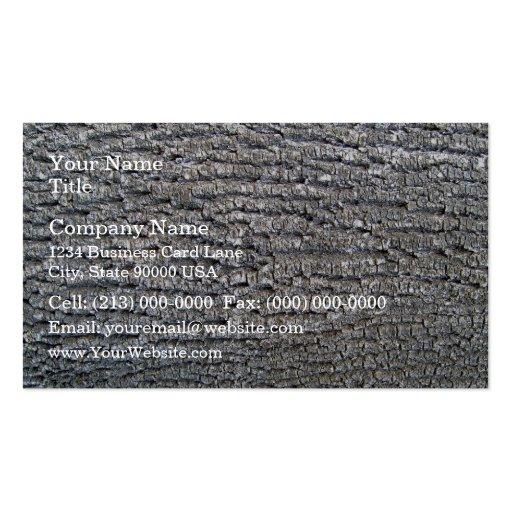 Horizontal texture of tree bark Double-Sided standard business cards (Pack of 100)