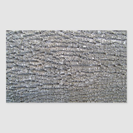 Horizontal texture of tree bark rectangular sticker