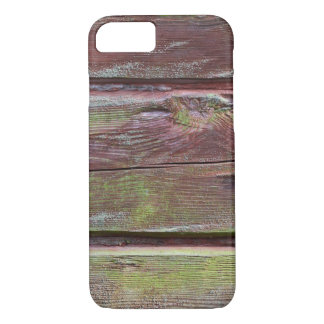 Horizontal timber wall with green mold iPhone 8/7 case