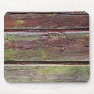 Horizontal timber wall with green mold mouse pad