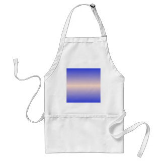 Horizontal Unbleached Silk and Palatinate Blue Adult Apron
