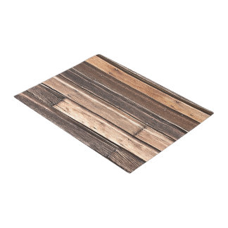 Horizontal Weathered Wood in Many Shades of Brown Doormat