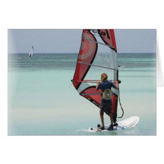 Horizontal Windsurfing Horizon Greeting Card